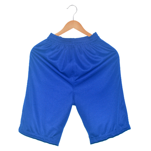 Polyester Men's sports shorts-plain royal blue